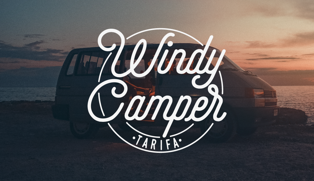 windy camper logotipo